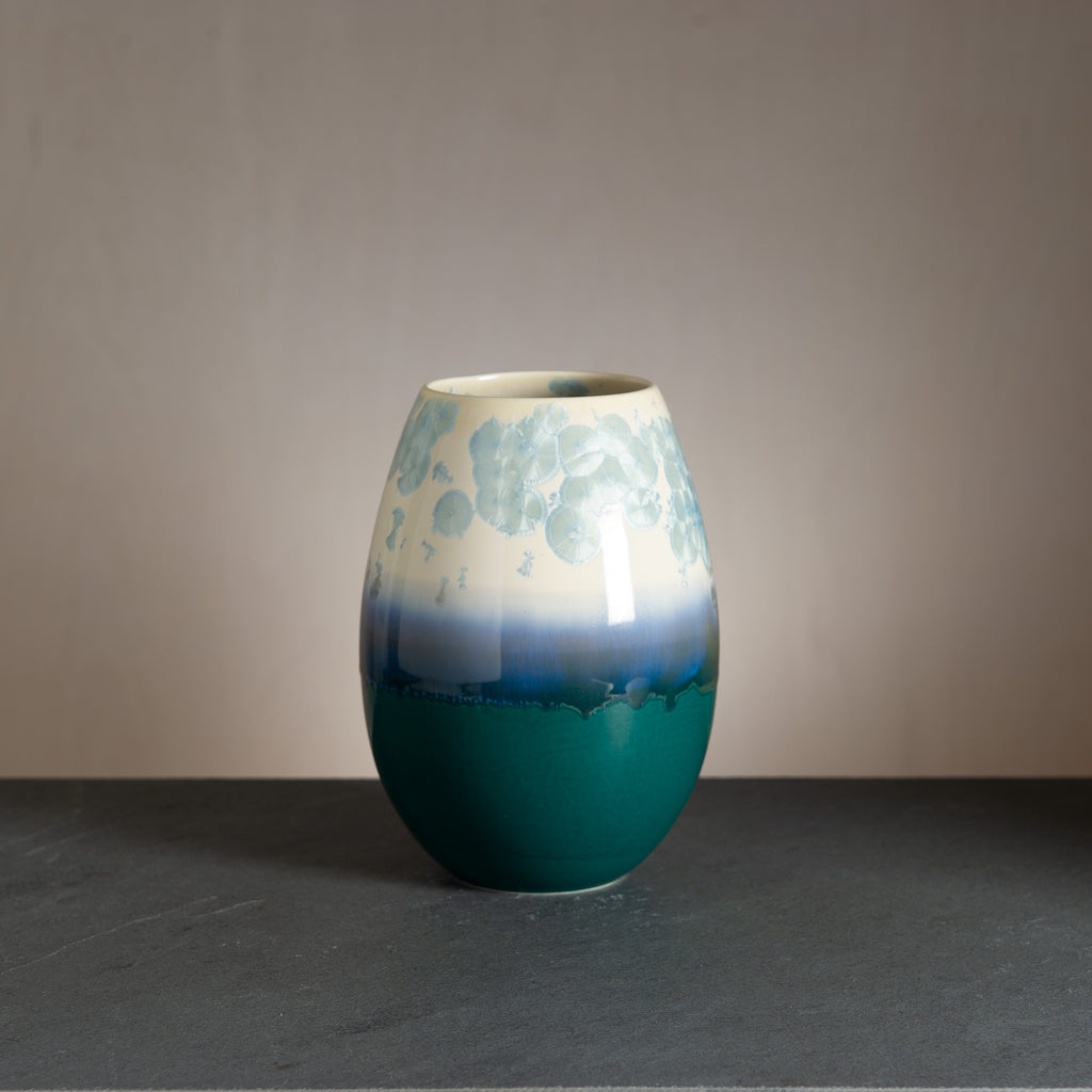 Crystal vase - Bluegreen/Nick