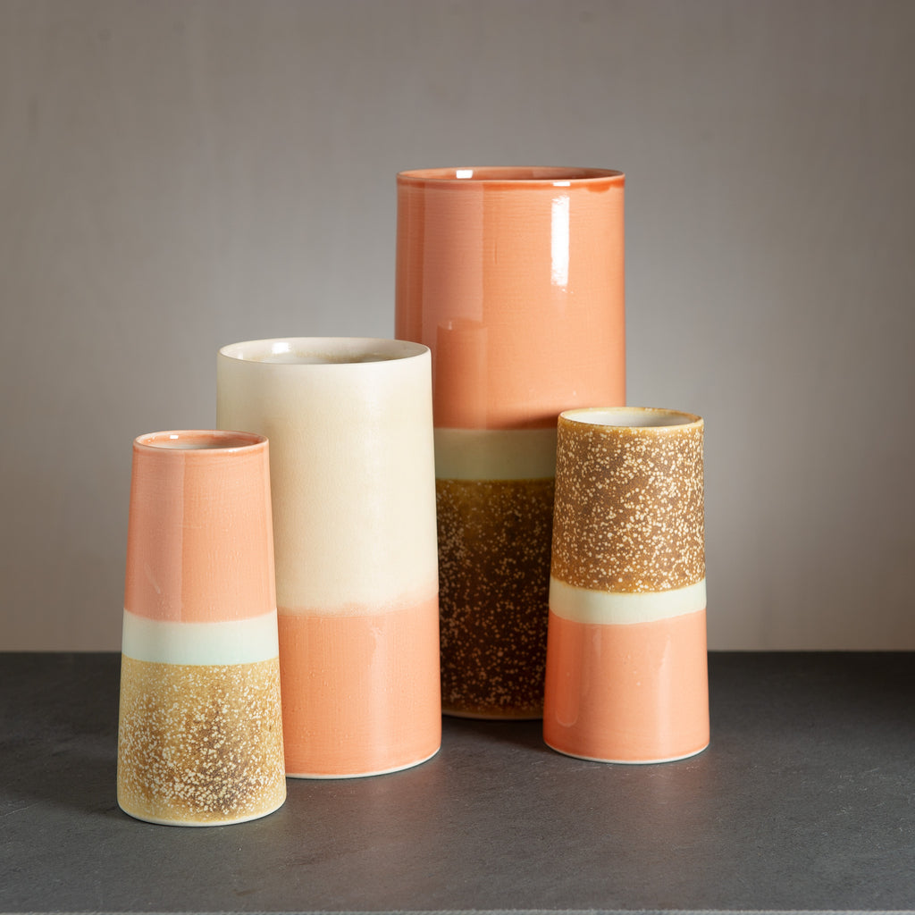 Sustainable Vase - peach/yellow-brownish