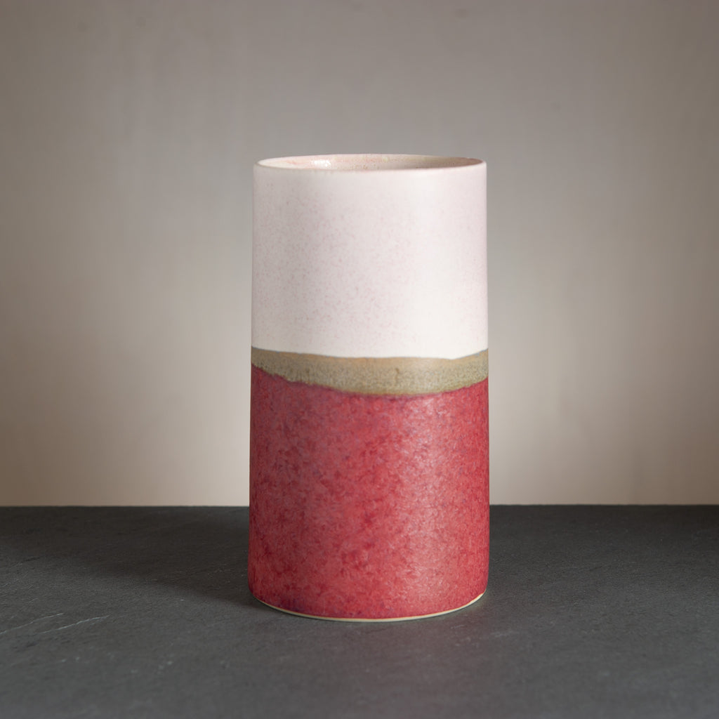 Sustainable Vase - Dark Red/Nude