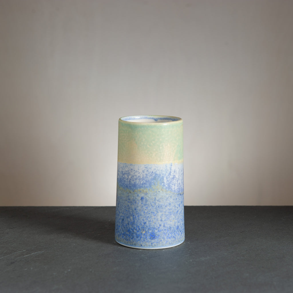 Sustainable Vase - Bluespot/Green seagull