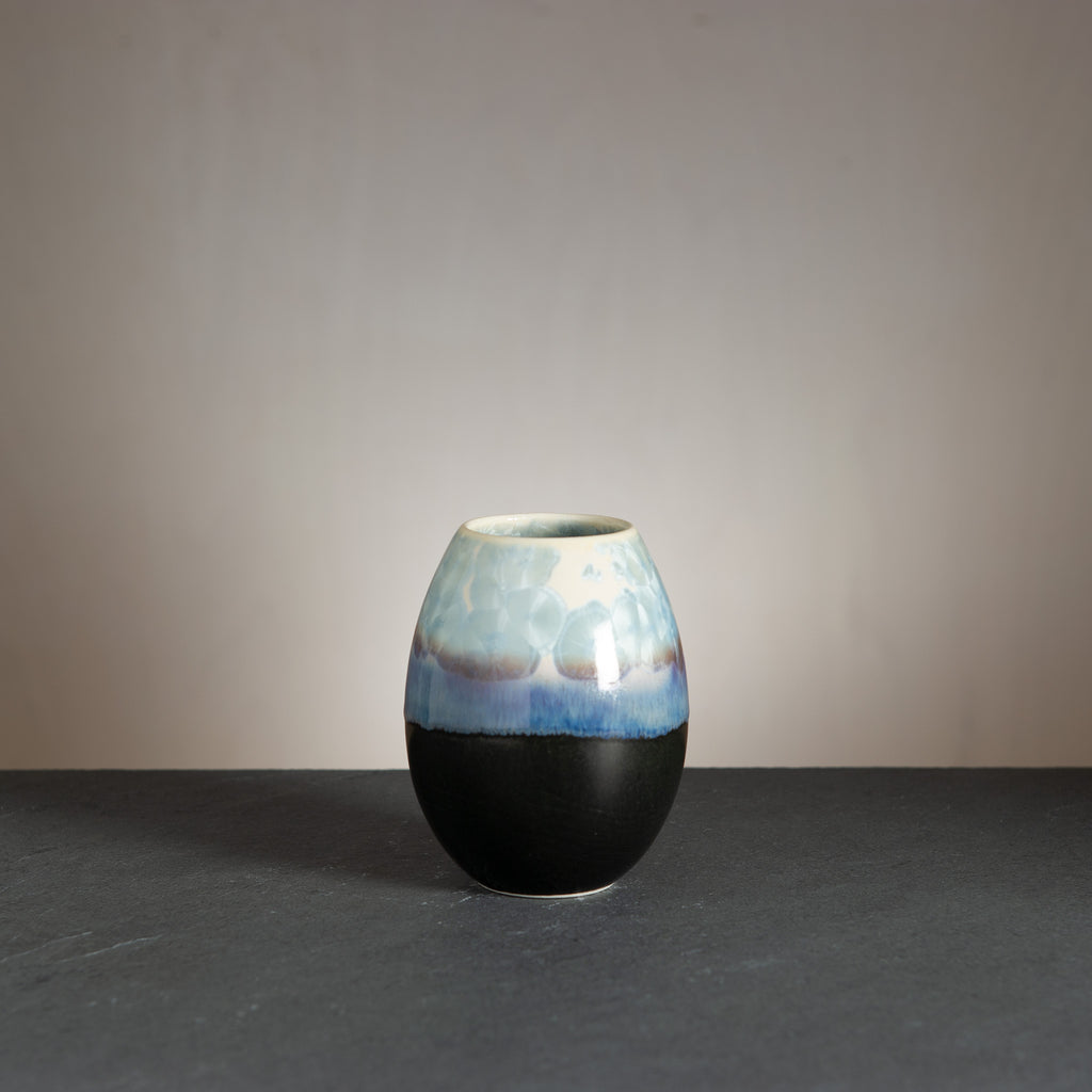 Crystal vase - Black/Steel Blue