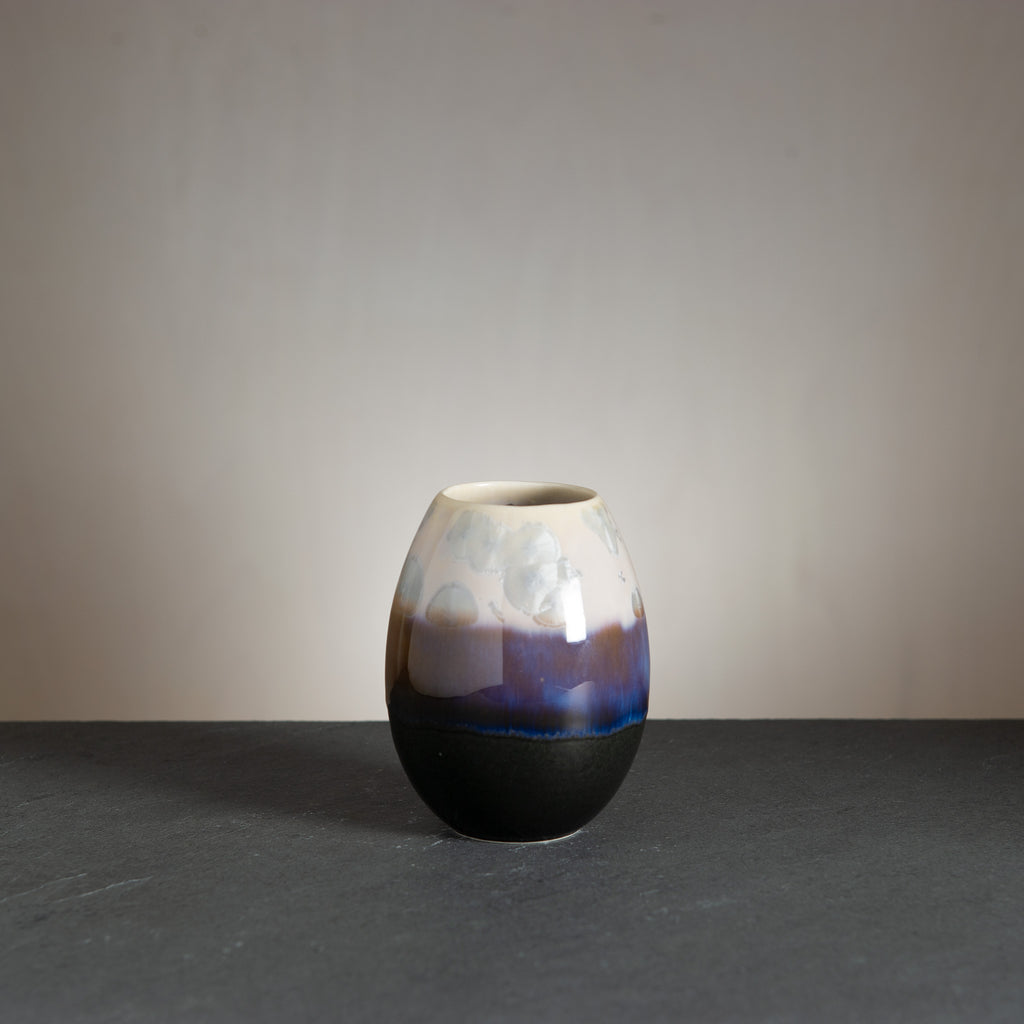 Crystal vase - Black/Pale