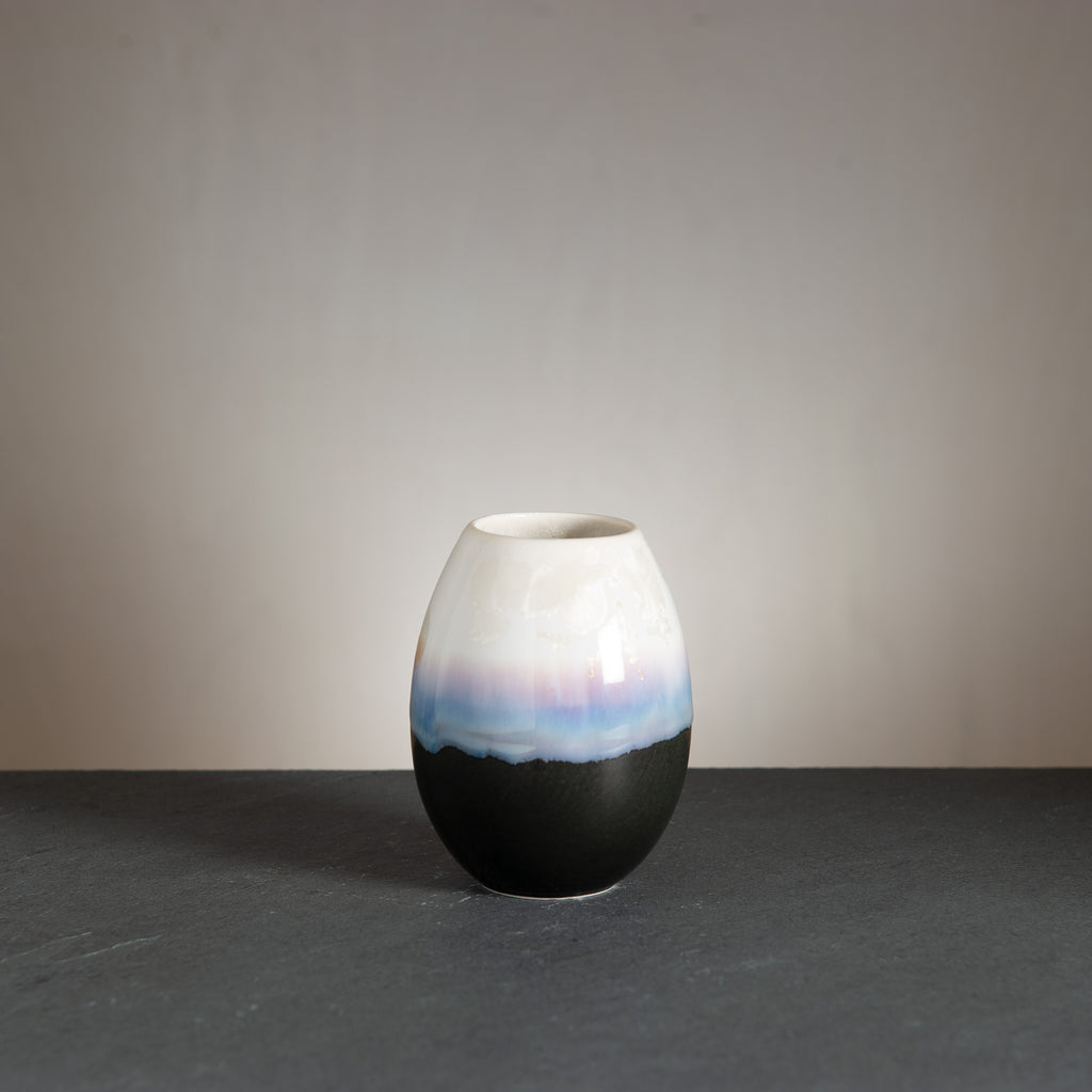 Crystal vase - Black/Snow white