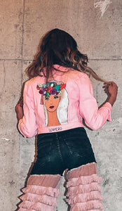 Fairy Hand Painted Jean Jacket