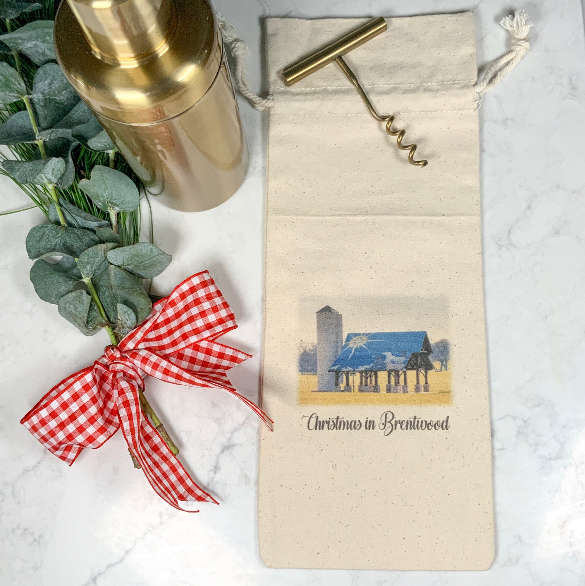 CHRISTMAS in BRENTWOOD Wine Bag