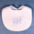 BABY BIB...stacked monogram