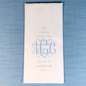 SCRIPTURE Guest Towel Proverbs 3: 5-6