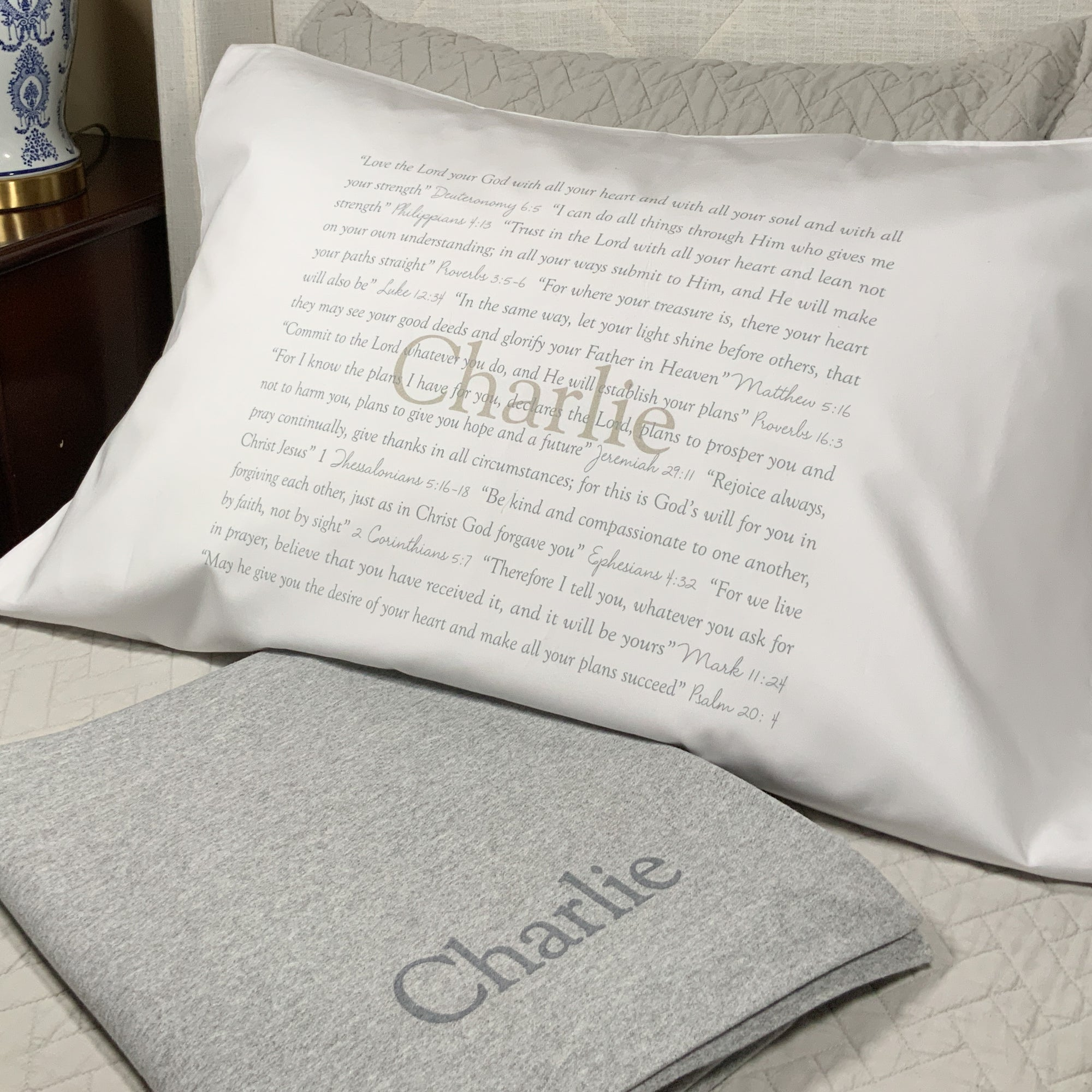 Scripture Pillowcase...Name in Print