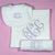 BABY GIRL GIFT SET (swaddle blanket, burp cloth and bib)