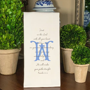 PROVERBS 3: 5-6  SCRIPTURE Guest Towel