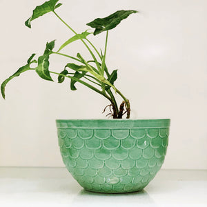 Sea Green Scaled Planter
