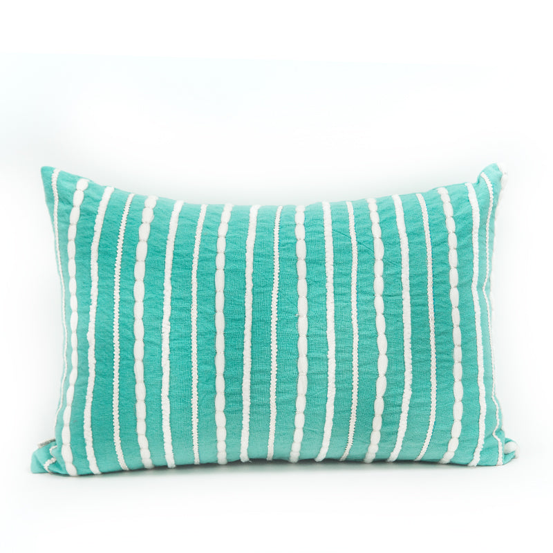 Aqua Binge Twine Rectangular Cushion Cover