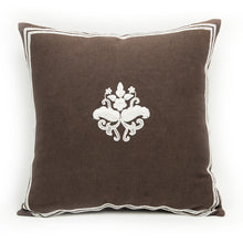 Load image into Gallery viewer, Imperial Threadwork Motif Cushion Cover - Brown