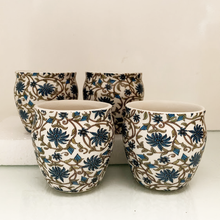 Load image into Gallery viewer, Persian Blue Kulhar - Set of 2