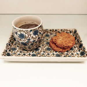 Ceramic Persian Blue Biscuit Tray