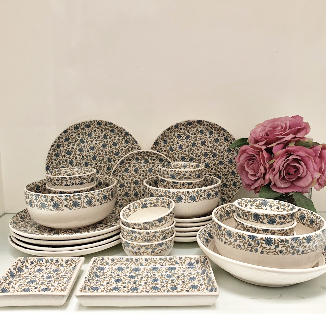 Ceramic Persian Blue Dinner Set