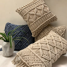 Load image into Gallery viewer, Macrame Cushion Cover 01