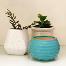 Load image into Gallery viewer, Aqua Round Planter
