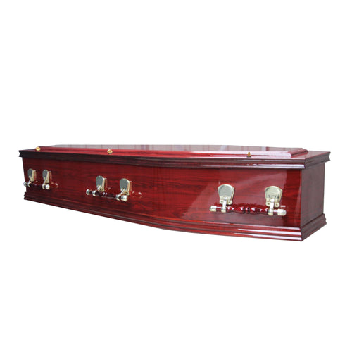 Bliss Mahogany Coffin