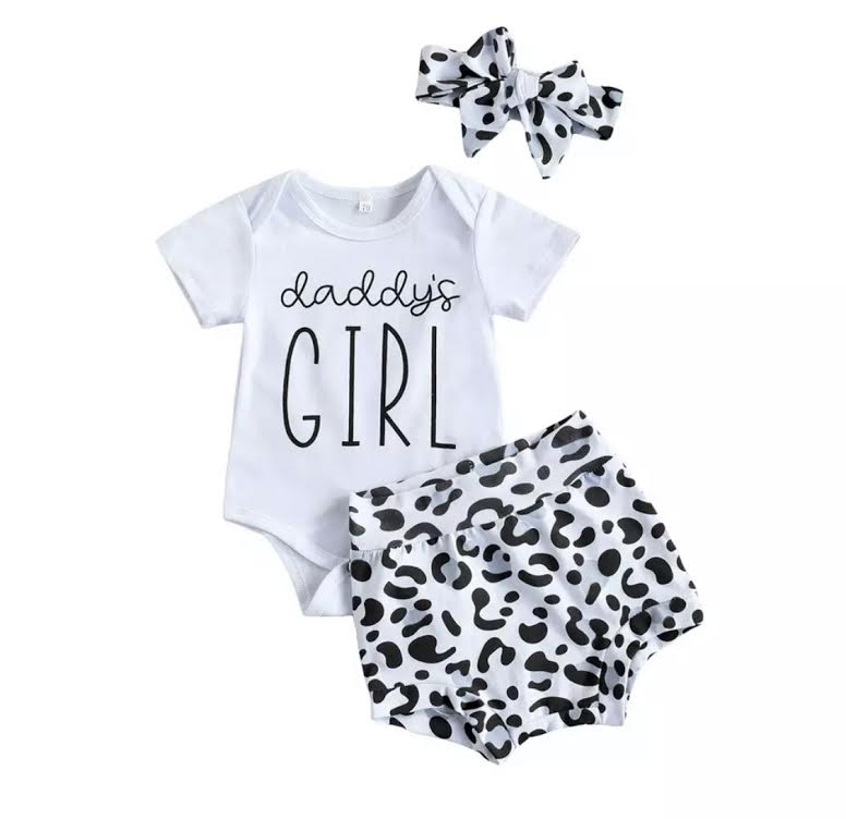 Daddy's Girl Snow Leopard Set