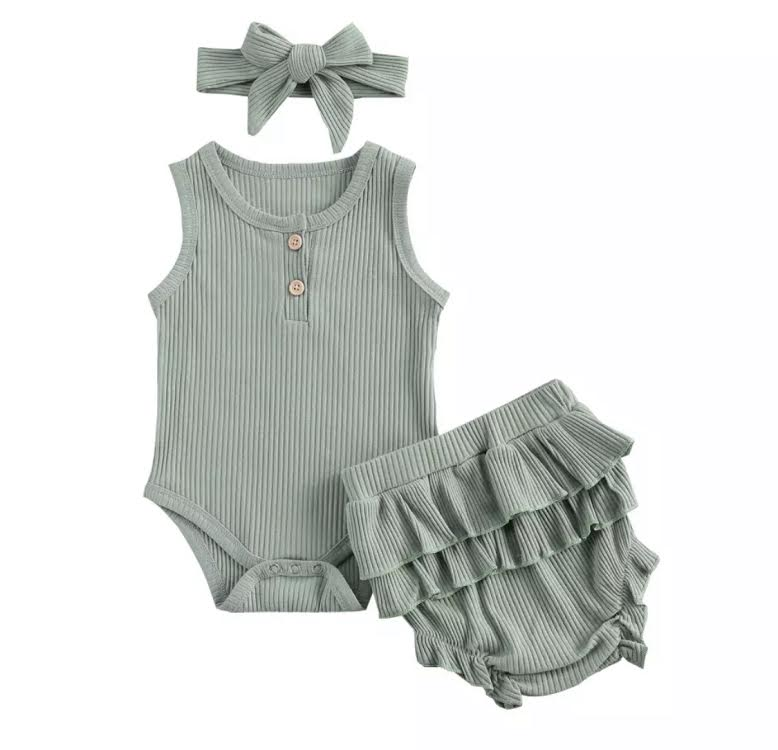 Ainsley Ruffle Bloomer Set