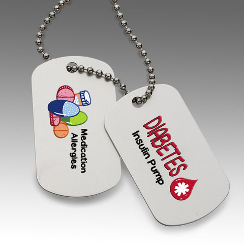Pre-Printed Medical and Allergy Dog Tags