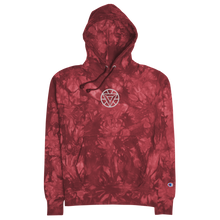 Load image into Gallery viewer, Arc Reactor Embroidered Tie-Dye Hoodie