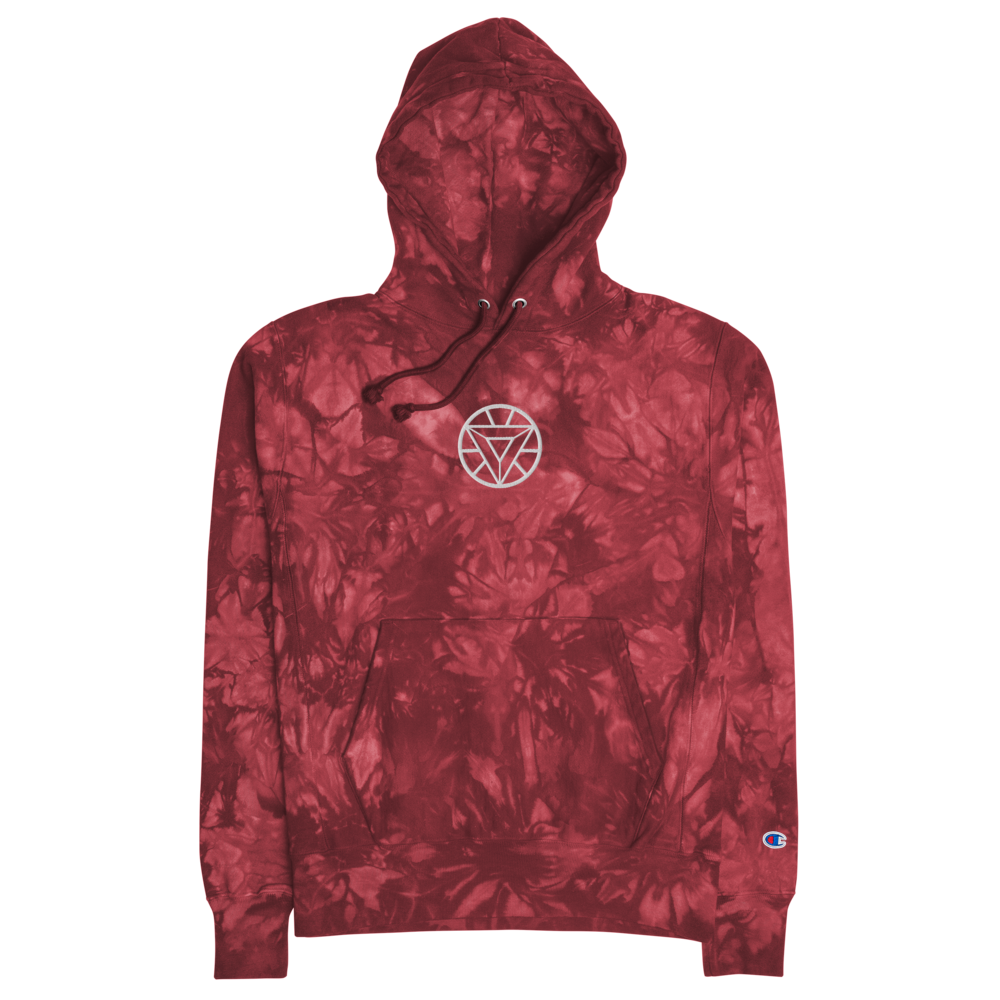 Arc Reactor Embroidered Tie-Dye Hoodie