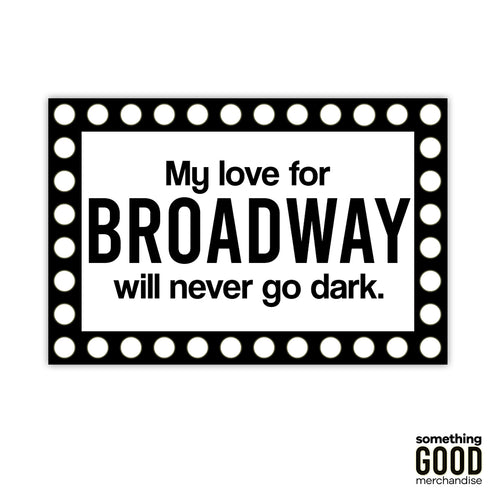 Broadway Love Marquee Sticker