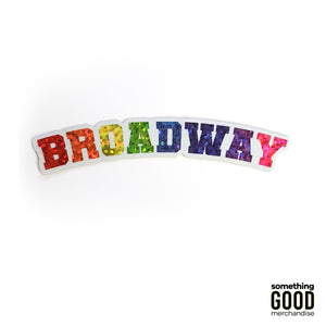 Broadway Varsity Pride Glitter Sticker