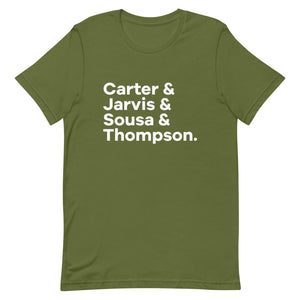 Carter and Co. Character List T-Shirt
