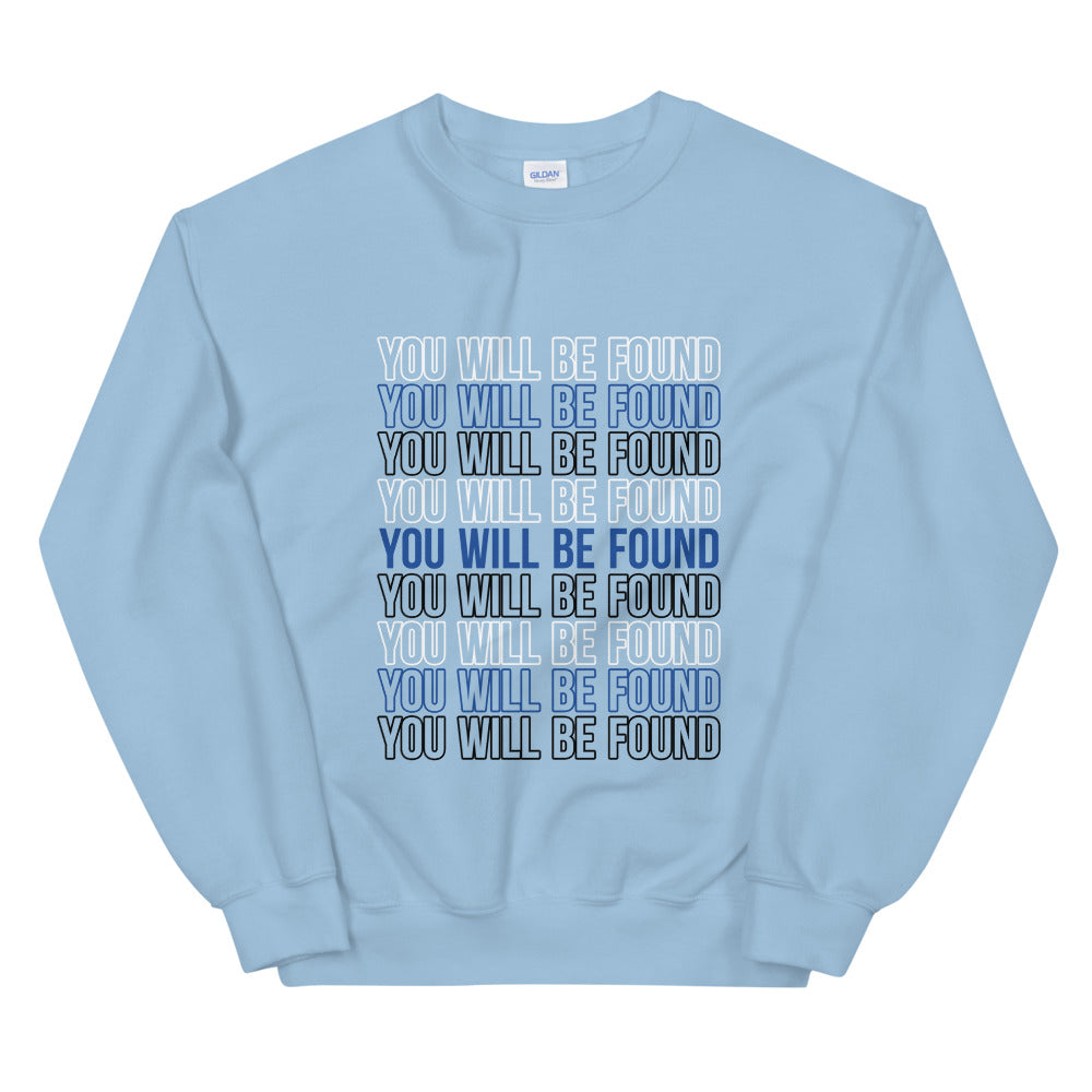 Rise Again Stacked Statement Sweatshirt (Light Blue)