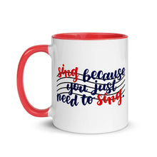 Load image into Gallery viewer, Singer's Motto Script Mug