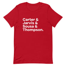Load image into Gallery viewer, Carter and Co. Character List T-Shirt