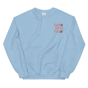 Pie Ingredients Embroidered Sweatshirt (Light Blue)