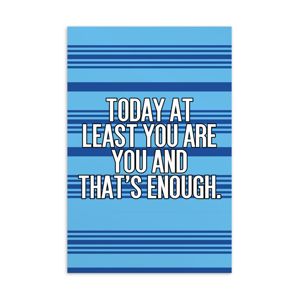 You Are Enough Postcard Print
