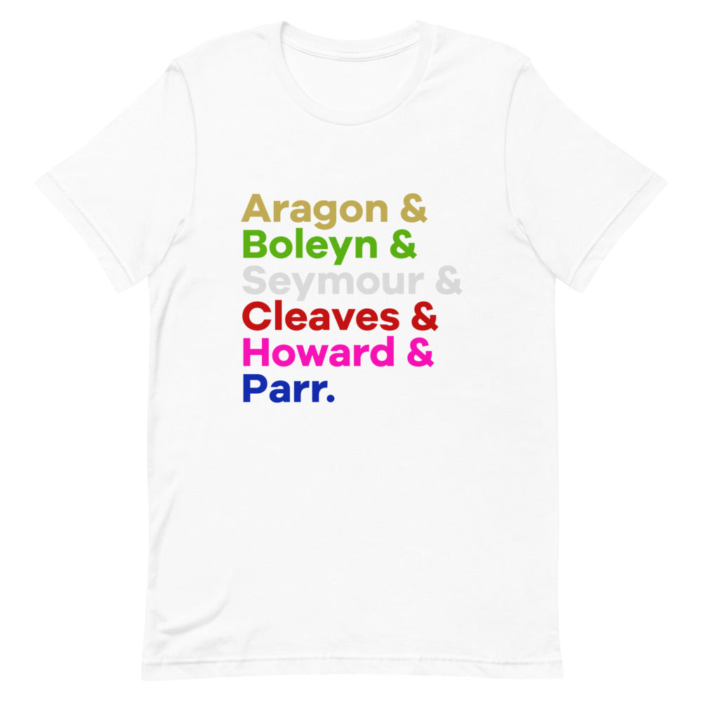 English Queens Character List T-Shirt