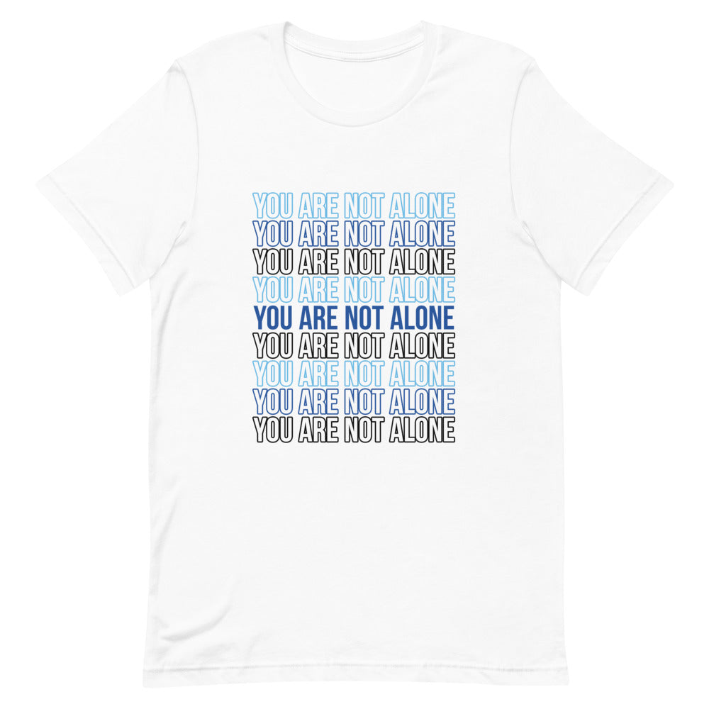 Not Alone Stacked Statement T-Shirt (White)