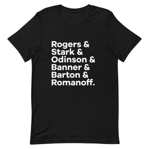OG Mightiest Six Character List T-Shirt