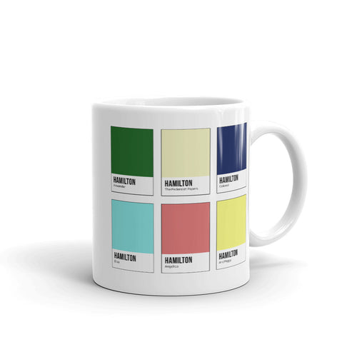 American Revolution Color Chip Mug