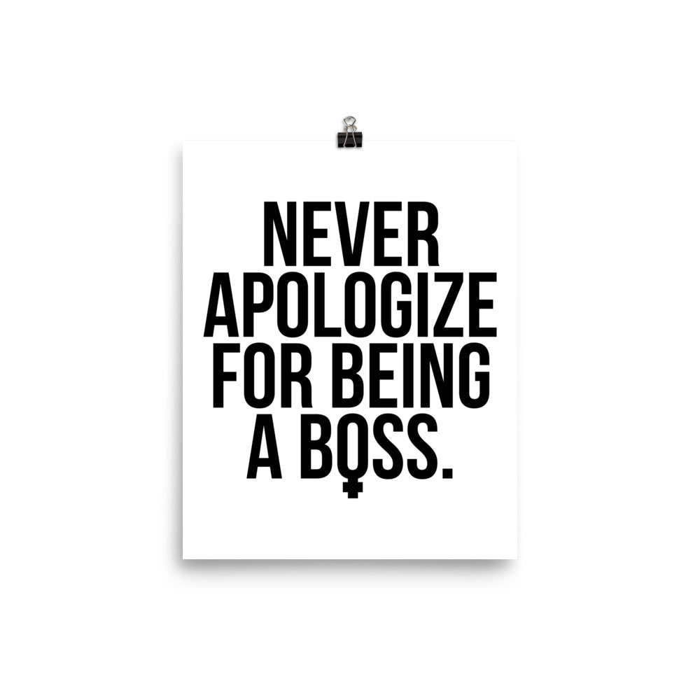 Unapologetic Female Boss Print (Black on White)