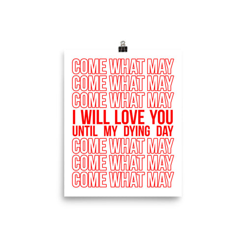Everlasting Love Stacked Statement Print