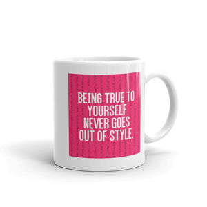 Stylish Truth Patterned Mug