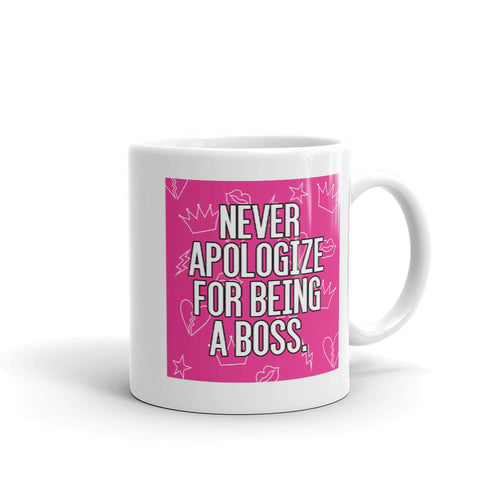 Unapologetic Boss Patterned Mug