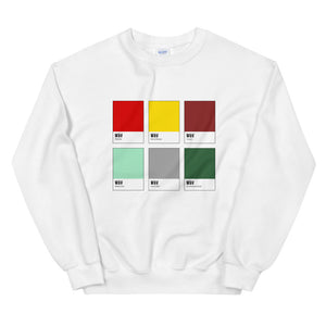 Unusual Couple Color Chip Sweatshirt