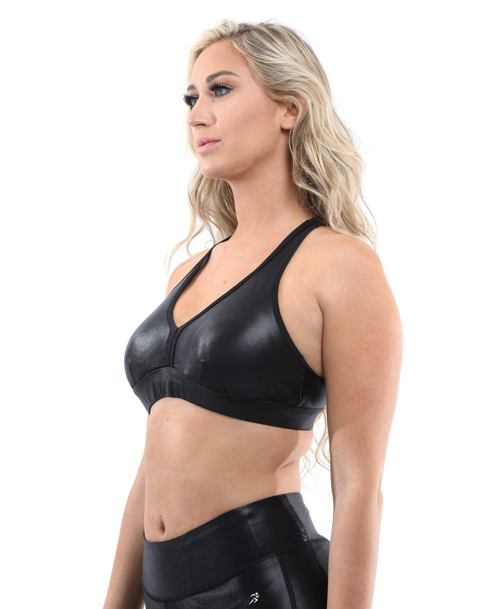 Cortina Activewear Sports Bra - Black [MADE IN ITALY]