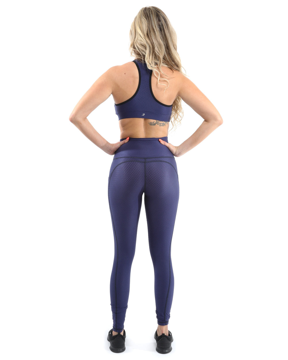 Venice Activewear Set - Leggings & Sports Bra - Navy [MADE IN ITALY]