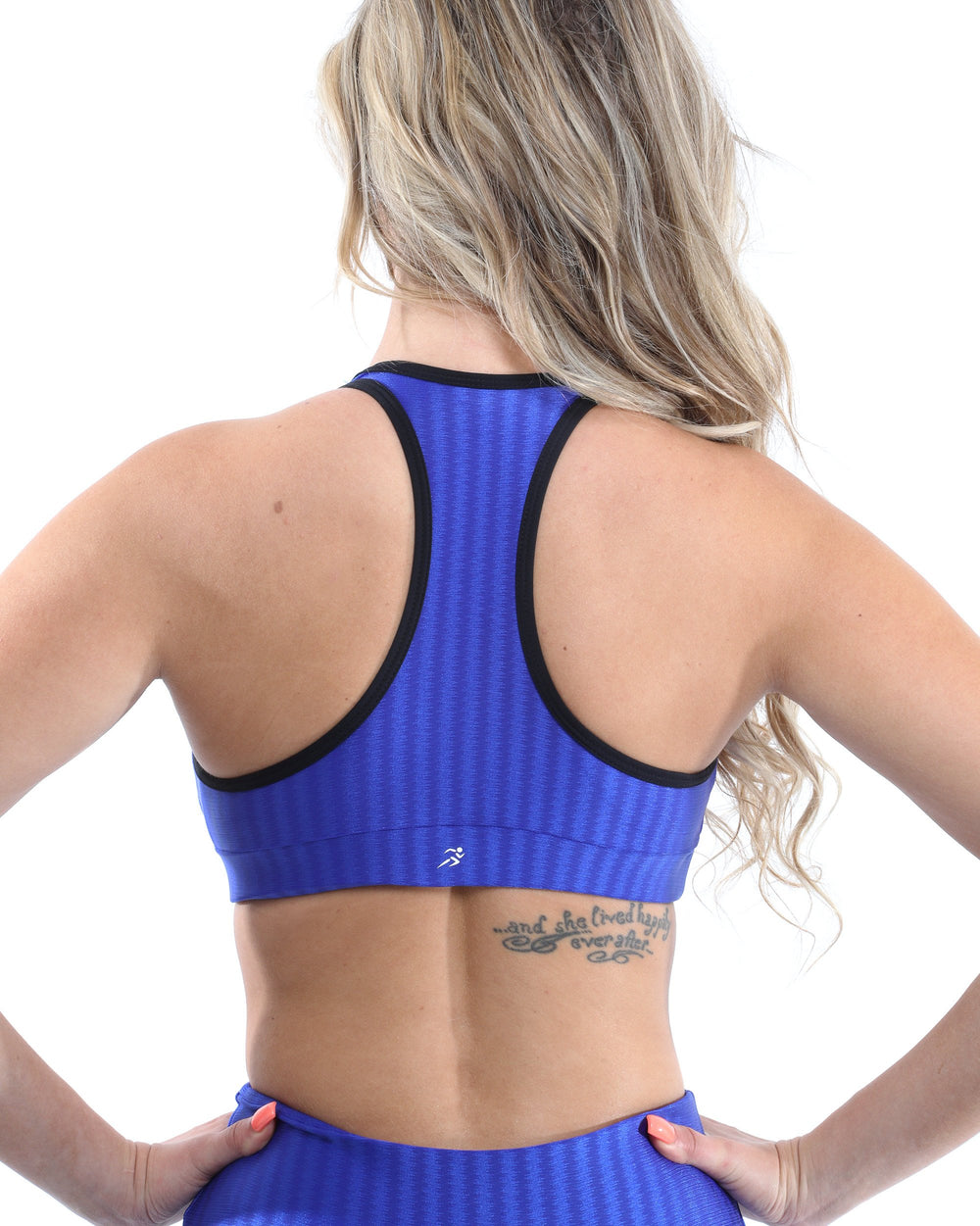 Firenze Activewear Set - Leggings & Sports Bra - Blue [MADE IN ITALY]