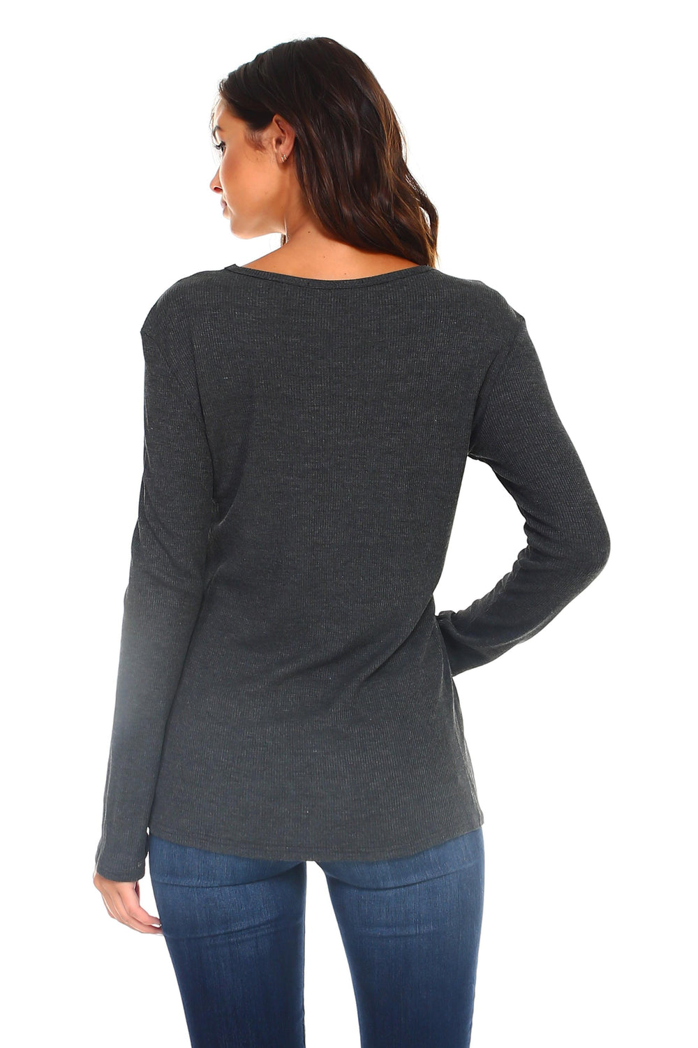 Women's Lace Up Long Sleeve Top