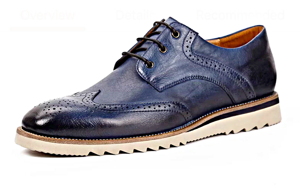 Blue Grand Wingtip Oxford